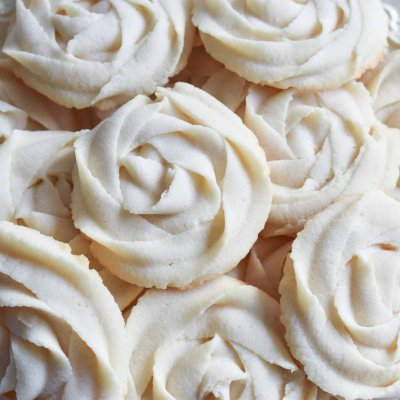 Whipped Rosette Butter Cookies